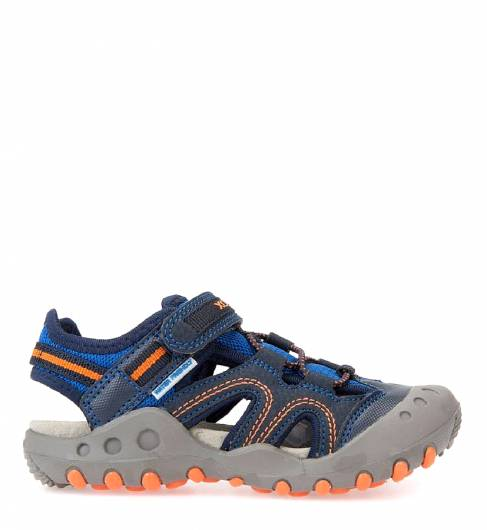 GEOX - JR SANDAL KYLE MESH+PRINT.DBK NAVY/ORANGE -
