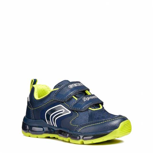 GEOX -  J ANDROID B. A - SINT.BOT+TES - NAVY/LIME -