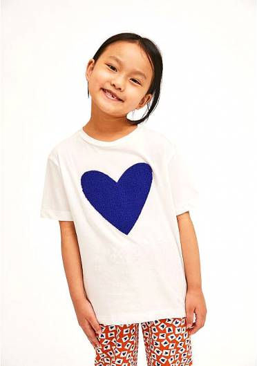 COMPANIA FANTASTICA - MINI | SLEEVELESS COTTON HEART PRINT T-SHIRT KP21HIL14 -