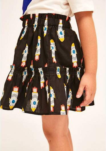 COMPANIA FANTASTICA - MINI | ROCKET PRINT MINI SKIRT WITH ELASTICATED WAIST KP21KAR02 -