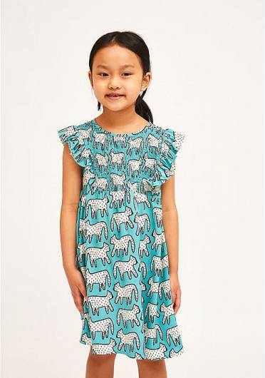 COMPANIA FANTASTICA - MINI | SMOCK DALMATIAN PRINT DRESS KP21SUD05 -