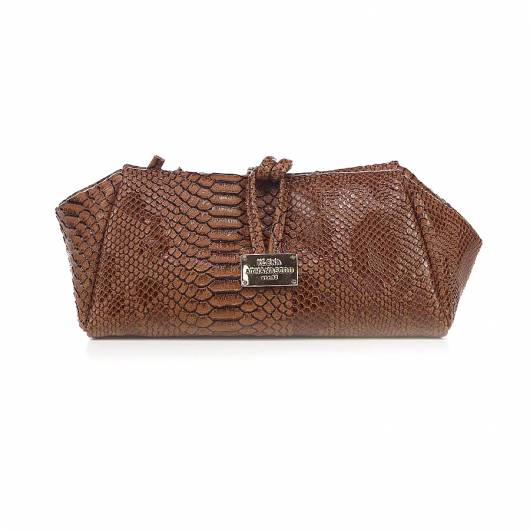 Elena Athanasiou - Lunch Bag Large Croco Brown  -