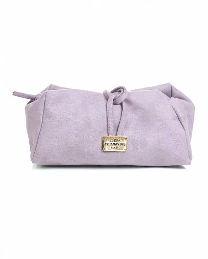 Elena Athanasiou - Lunch Bag Large Suede Lila -