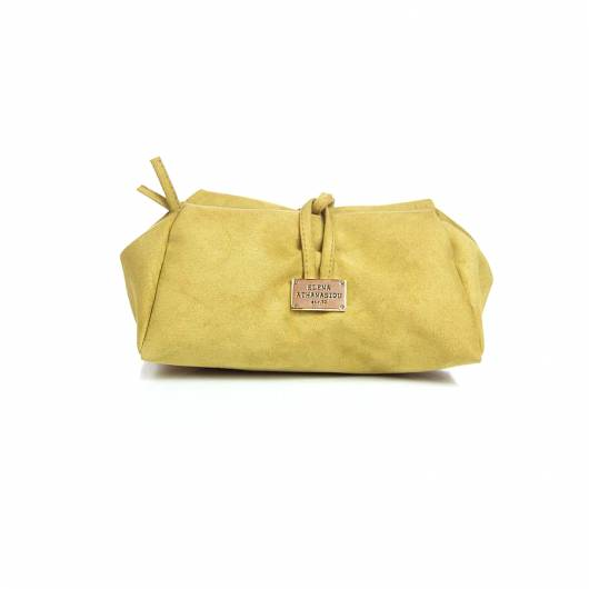 Elena Athanasiou - Lunch Bag Large Suede Olive -