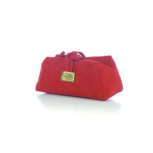 Elena Athanasiou - Lunch Bag Large Suede Red -