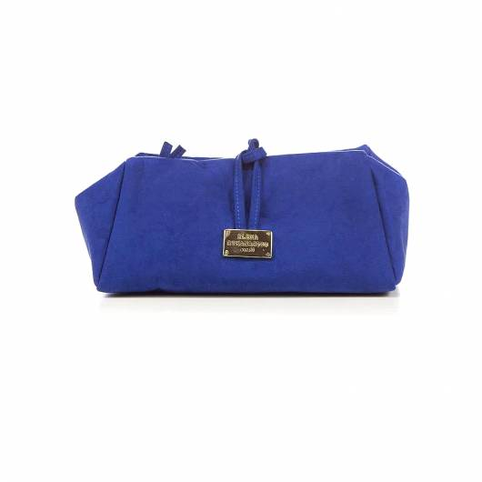 Elena Athanasiou - Lunch Bag Large Suede Royal Blue -