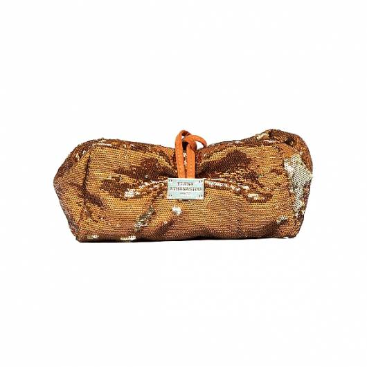 Elena Athanasiou - Lunch bag Large Sequin Bronze -