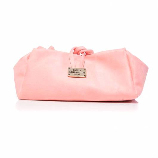 Elena Athanasiou - Lunch bag Large Suede Bubblegum Pink -