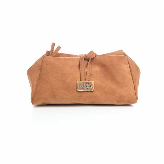 Elena Athanasiou - Lunch bag Large Suede Cognac -