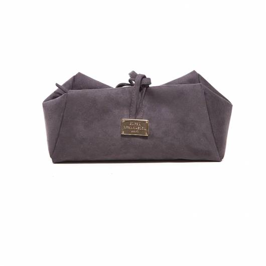 Elena Athanasiou - Lunch bag Large Suede Grey -