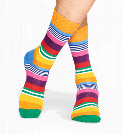 Happy Socks - MULTI STRIPE SOCK MST01-3000 -