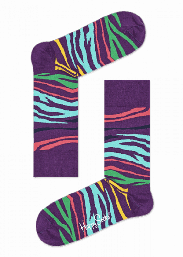 Happy Socks - Multi Zebra Sock MZE01-5000 -