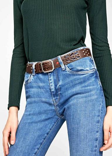 PEPE JEANS - SAUL BELT PL020766 (899) CHOCOLATE -