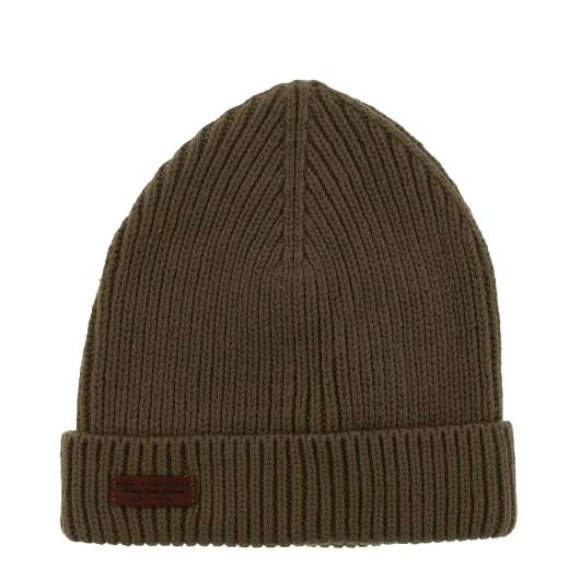 PEPE JEANS - NEW URAL BEANIE HAT PM040349 (679) MILITARY GREEN
