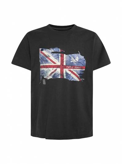 PEPE JEANS - T-SHIRT SID PM507281 (999) BLACK