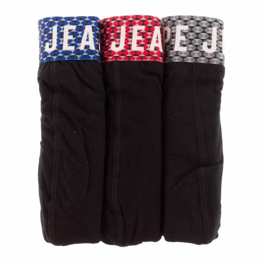 Pepe jeans - Short Trunk Colbert PMU10427 (0AA) 3pk Black with eton Blue Red Forest wb -