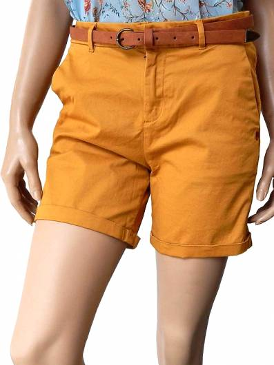 Maison scocth - Pima Cotton Chino Shorts 143790 Mustard -