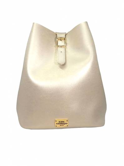 Elena Athanasiou - Recycled Backpack Metallic Gold -