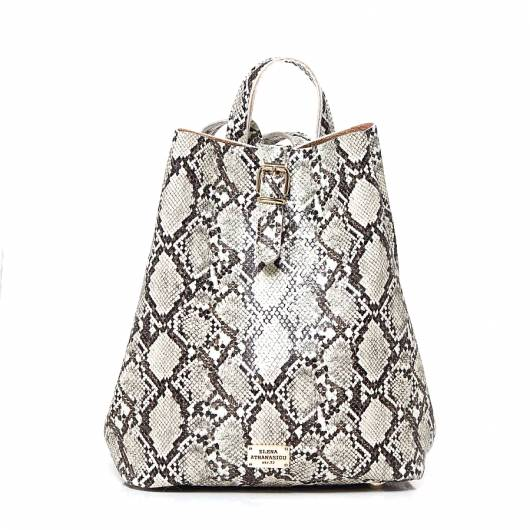 Elena Athanasiou - Recycled Backpack Snake Pattern Sand -