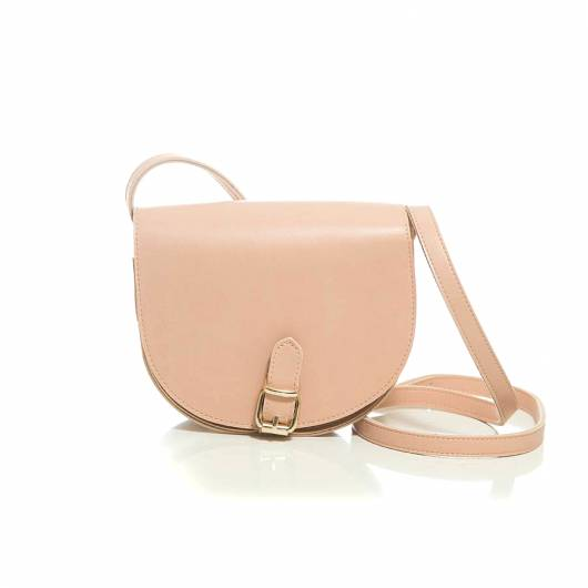 Elena Athanasiou -	Recycled Leather Crossbody Baby Pink -