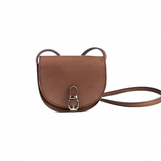 Elena Athanasiou - Recycled Leather Crossbody Chocolate  -