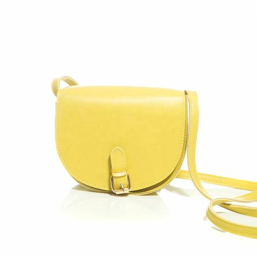 Elena Athanasiou -	Recycled Leather Crossbody Lime -