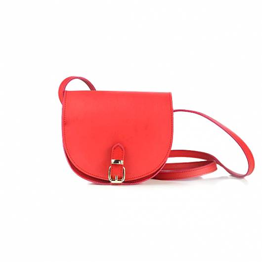 Elena Athanasiou - Recycled Leather Crossbody Red -