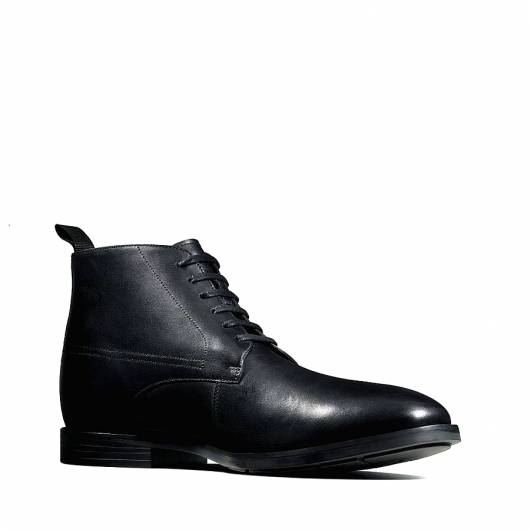 CLARKS - Ronnie Up GTX 26145256 BLACK LEATHER