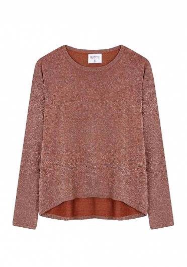 COMPANIA FANTASTICA - LIGHTWEIGHT METALLIC BROWN JUMPER SP19CHU23 -