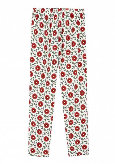 COMPANIA FANTASTICA - RED FLOWER TROUSERS SP19HAN43 -