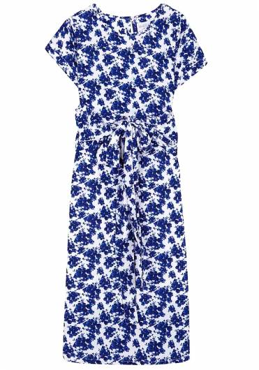 COMPANIA FANTASTICA - BLUE FLOWERS MIDI DRESS SP19SAM07 -