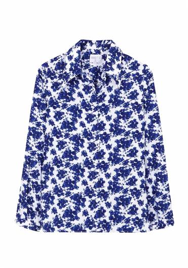 COMPANIA FANTASTICA - BLUE FLORAL SHIRT SP19SAM11 -