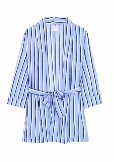 COMPANIA FANTASTICA - KIMONO BLUE STRIPES SP19SHE16 -