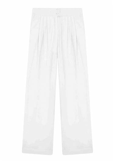 COMPANIA FANTASTICA - WHITE CULOTTE TROUSERS SP19SHE18 -
