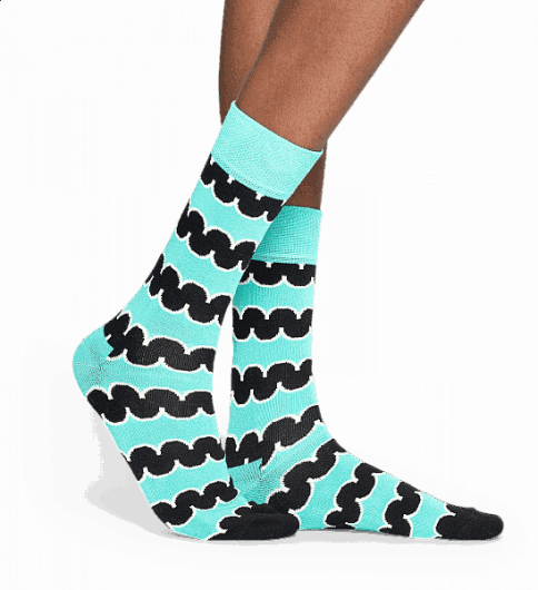 Happy Socks - SQUIGGLY SOCK SQU01-7000 -