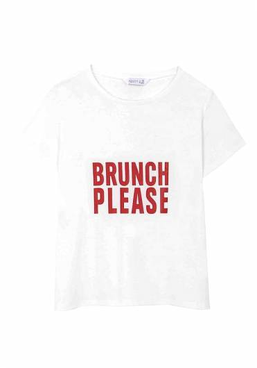 COMPANIA FANTASTICA - BRUNCH PLEASE T-SHIRT SS19HAN75 -