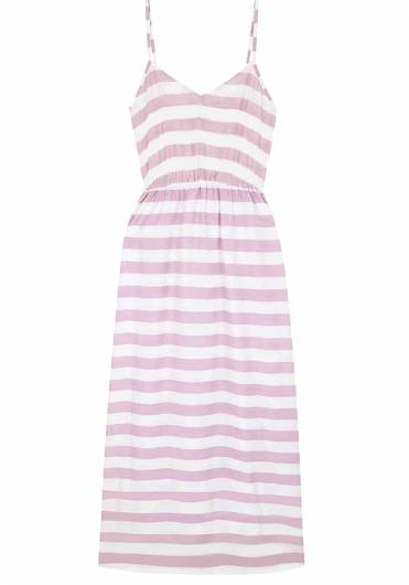 COMPANIA FANTASTICA - LONG PINK STRIPED DRESS SS19SAM19 -