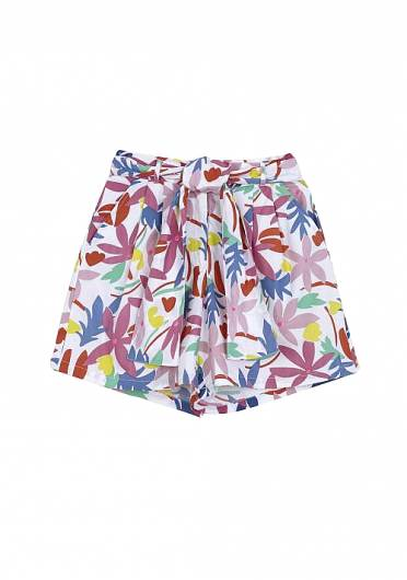 COMPANIA FANTASTICA - MULTICOLOURED FLORAL SHORTS WITH BOW SS20PIC23 -
