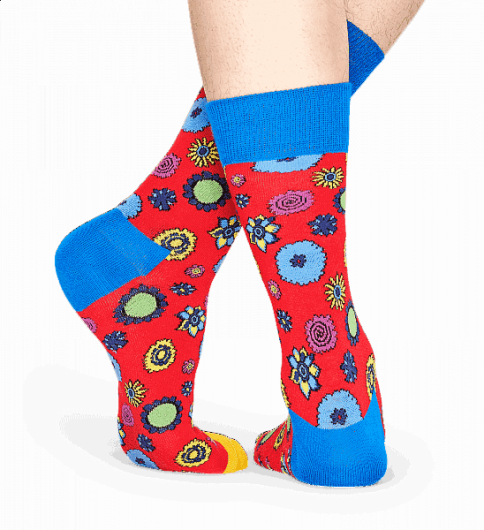 Happy Socks - THE BEATLES FLOWER POWER SOCK BEA01-4300 -