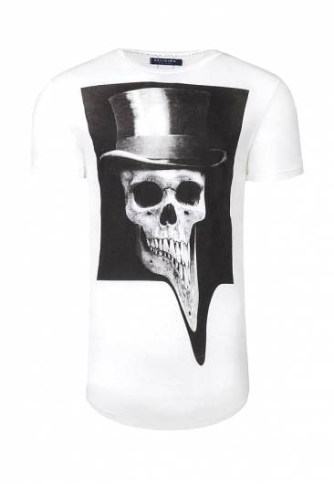 Religion - TOP HAT CURVE HEM T-SHIRT WHITE 38BTHG49 -