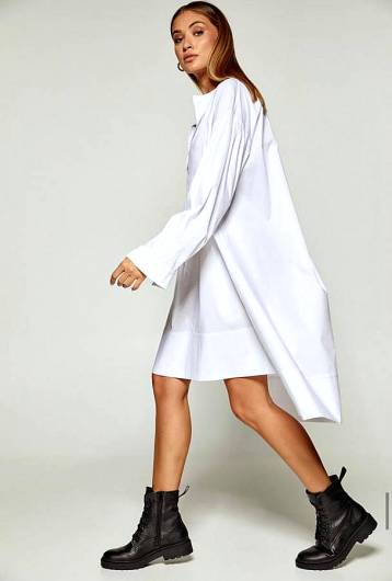 DOLCE DOMENICA - LONG SHIRT W20-20618 WHITE -