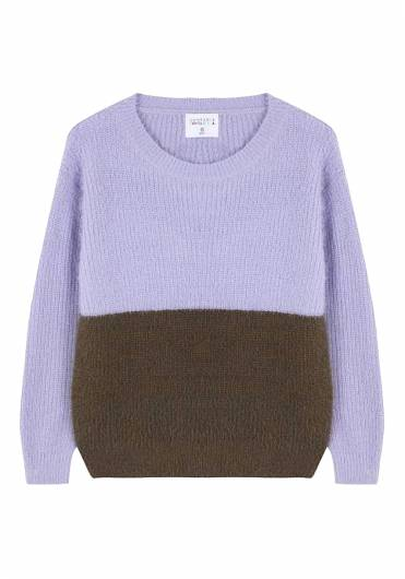 COMPANIA FANTASTICA - LILAC AND GREEN KNIT JUMPER WI19CHU22 -