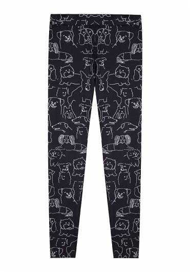 COMPANIA FANTASTICA - BLACK DOG LEGGINGS WI19HAN119 -