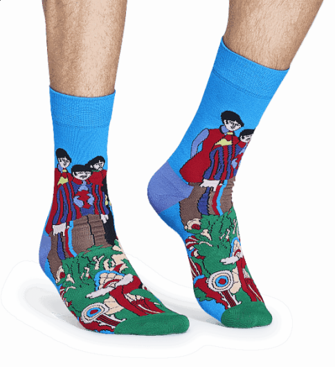 HAPPY SOCKS - YELLOW SUBMARINE SOCK BEA01-7000 -