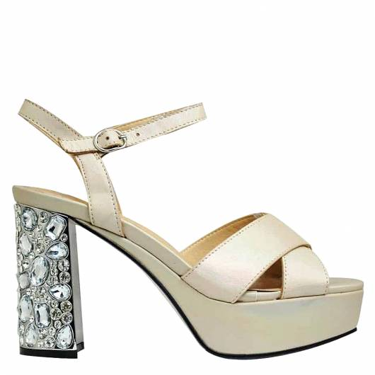 FAVELA - HEELED PLATFORMS 116538 GOLD -
