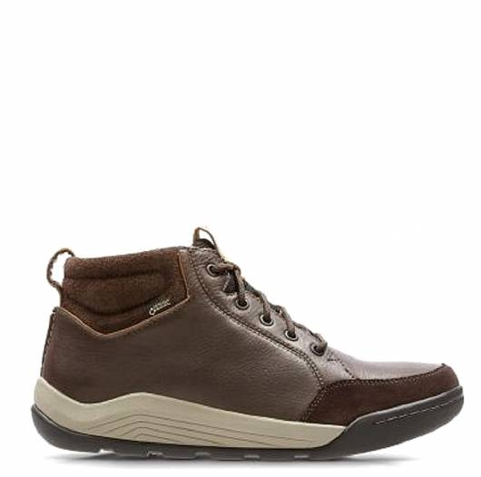 CLARKS - ASHCOMBE MID GTX 26135409  DARK BROWN LEATHER -