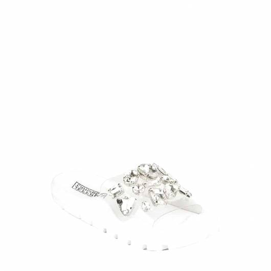 JEFFREY CAMPBELL - ΣΑΝΔΑΛΙΑ  ASPIC-JWL CLEAR WHITE SILVER -