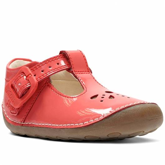 Clarks - Little Weave - Coral Patent