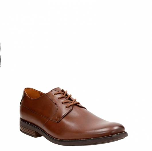 CLARKS - BECKEN PLAIN 26124175 TAN LEATHER