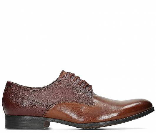 CLARKS - GILMORE WALK 26134859 BRITISH TAN LEATHER -